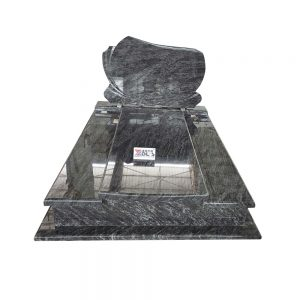 Bahama blue double granite Poland monument.jpg