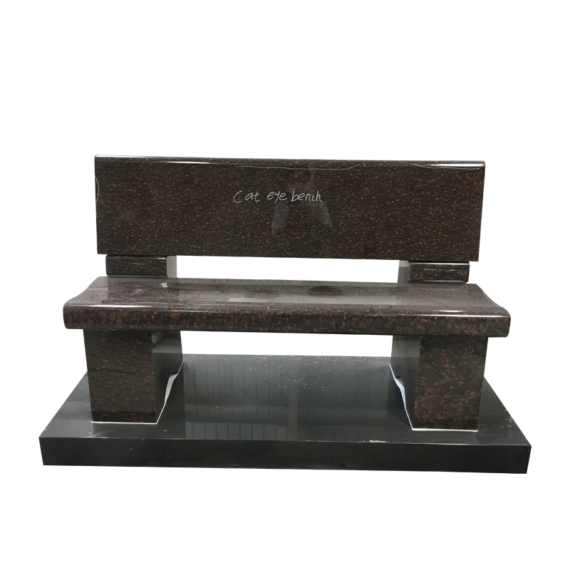 Memorial Benches for Grave Sites with Cat Eyes Granite
