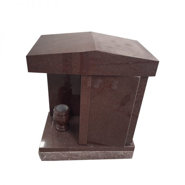 Red Tombstone with Imperial Red Granite